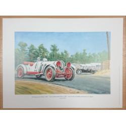 Reproduction - 24 Heures du Mans 1931 - MERCEDES-BENZ SSK, Daniel PICOT Librairie Automobile SPE picot31