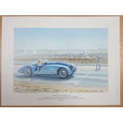 Reproduction - 24 heures du Mans 1937- BUGATTI, Daniel PICOT Librairie Automobile SPE picot37