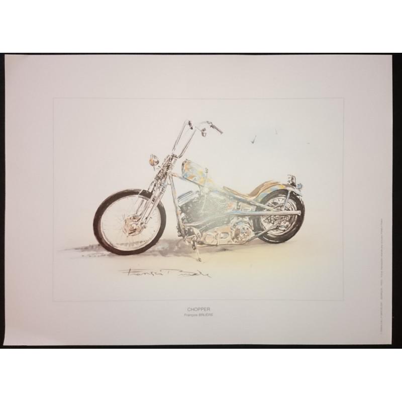 Reproduction - Moto CHOPPER, François BRUERE Librairie Automobile SPE bruereCHOP