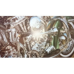 Reproduction - Moto PAN-HEART, François BRUERE Librairie Automobile SPE bruerePan