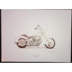 Reproduction - Moto SOFT CUSTOM, François BRUERE