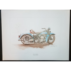 Reproduction - Moto BLUE KNUCK, François BRUERE Librairie Automobile SPE bruereBLUE