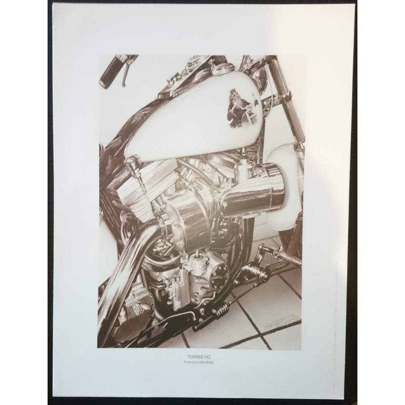 Reproduction - Moto TURBEVO, François BRUERE Librairie Automobile SPE bruereTURB