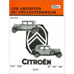 REVUE TECHNIQUE CITROËN C4 / C6 (1929-1934) ARC05 Librairie Automobile SPE 9782726899038