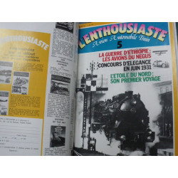 L' ENTHOUSIASTE N°1 à N°9 (1977) AVION AUTOMOBILE TRAIN Librairie Automobile SPE ENTHOUSIASTE