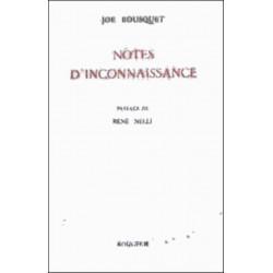 NOTES D'INCONNAISSANCE de JOE BOUSQUET Librairie Automobile SPE 9782856682265