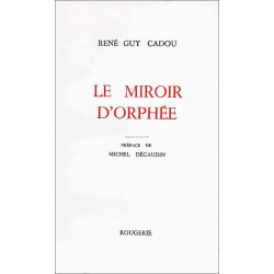 LE MIROIR D' ORPHÉE de RENÉ GUY CADOU Librairie Automobile SPE 9782856682296