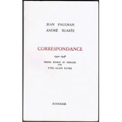 CORRESPONDANCE 1940-1948 de ANDRE SUARES à JEAN PAULHAN Librairie Automobile SPE 9782856682562