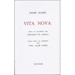 VITA NOVA de ANDRE SUARES Librairie Automobile SPE 9782856682616