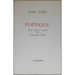 POETIQUE de ANDRE SUARES Librairie Automobile SPE 9782856682609