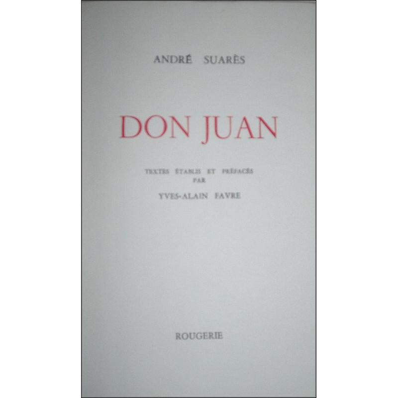 DON JUAN de ANDRE SUARES Librairie Automobile SPE 9782856682579