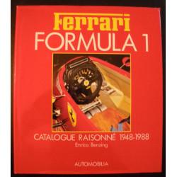 FERRARI FORMULA 1 , CATALOGUE RAISONNE 1948-1988 de ENRICO BENZING Librairie Automobile SPE 9788885058996