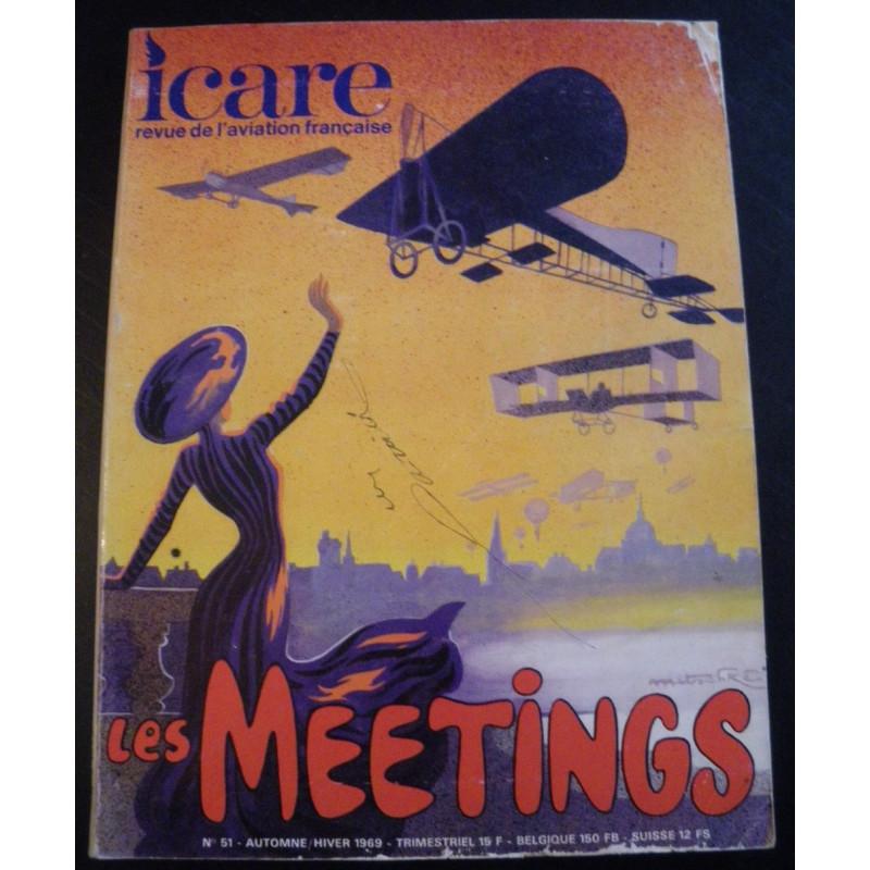 REVUE DE L'AVIATION FRANÇAISE ICARE N°51 LES MEETINGS Librairie Automobile SPE ICARE 51