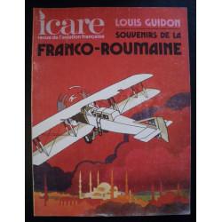 REVUE DE L'AVIATION FRANÇAISE ICARE N°73 SOUVENIRS DE LA FRANCO-ROUMANIE