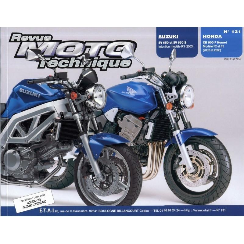REVUE MOTO TECHNIQUE HONDA CBF 900 HORNET de 2002 et 2003 - RMT 131 Librairie Automobile SPE 9782726892244