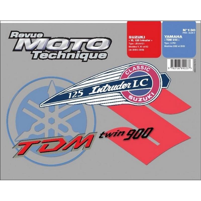 REVUE MOTO TECHNIQUE SUZUKI VL 125 INTRUDER de 2000 à 2003 - RMT 130 Librairie Automobile SPE 9782726892237