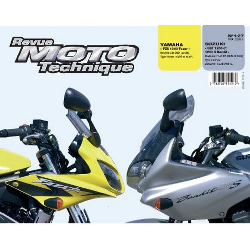 REVUE MOTO TECHNIQUE SUZUKI GSF 1200 de 2001 et 2002 - RMT 127 Librairie Automobile SPE 9782726891919