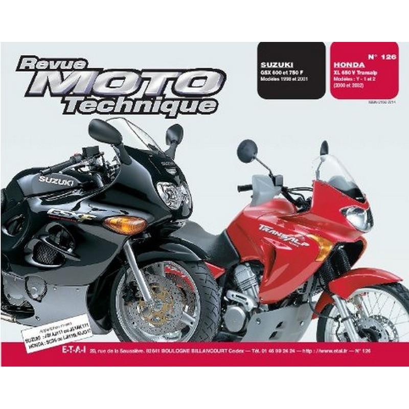 REVUE MOTO TECHNIQUE SUZUKI GSX 600 et 750F de 1998 à 2001 - RMT 126 Librairie Automobile SPE 9782726891902