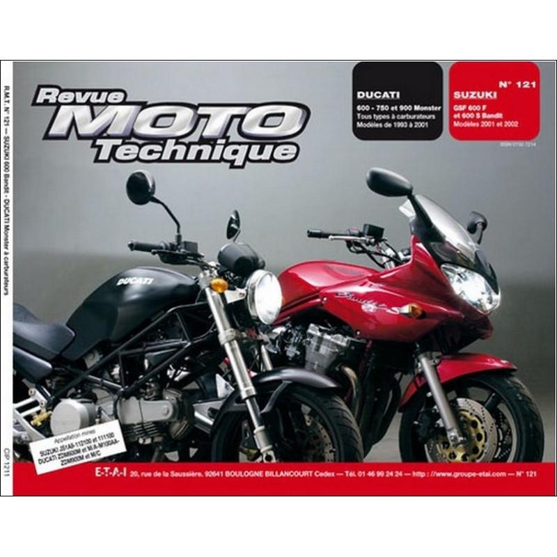 REVUE MOTO TECHNIQUE SUZUKI 600 GSF et BANDIT de 1993 à 2001 - RMT 121 Librairie Automobile SPE 9782726891773