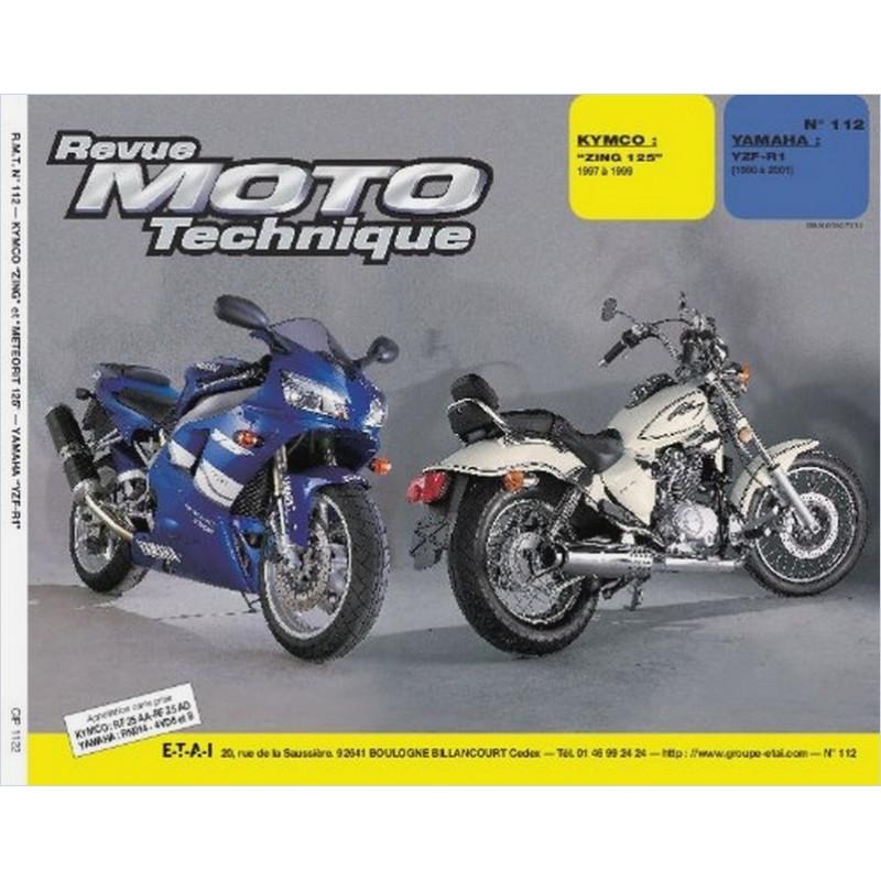 REVUE MOTO TECHNIQUE KYMCO ZING 125 de 1997 à 1999 - RMT 112 Librairie Automobile SPE 9782726891568