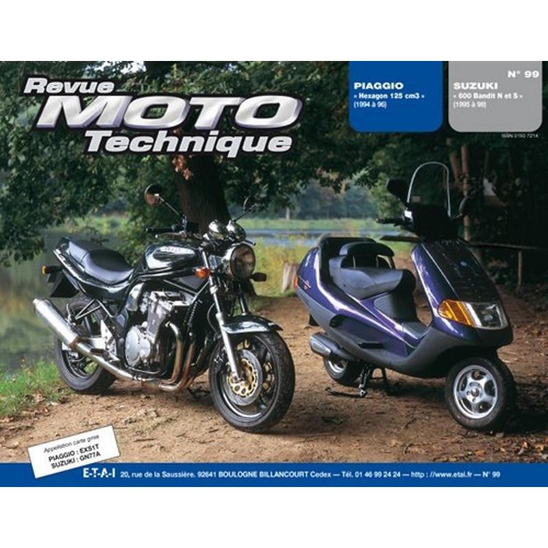 REVUE MOTO TECHNIQUE SUZUKI 600 BANDIT de 1995 à 1999 - RMT 99 Librairie Automobile SPE 9782726890981