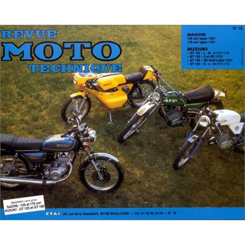 REVUE MOTO TECHNIQUE SACHS 125 et 175 - RMT 16 Librairie Automobile SPE 9782726890110