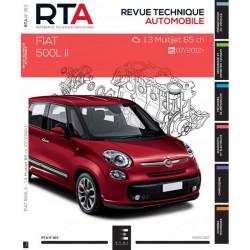 REVUE TECHNIQUE FIAT 500 L II depuis 2012 - RTA 813 Librairie Automobile SPE 9791028306083