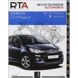 REVUE TECHNIQUE CITROEN C3 II Phase 2 de 2012 à 2016 - RTA 815 Librairie Automobile SPE 9791028306106