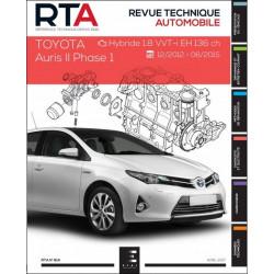 REVUE TECHNIQUE TOYOTA AURIS II PHASE 1 de 12/2012 à 06/2015 - RTA 814 Librairie Automobile SPE 9791028306090