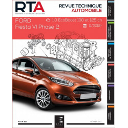 REVUE TECHNIQUE FORD FIESTA VI PHASE 2 depuis 2012 - RTA 812 Librairie Automobile SPE 9791028306076