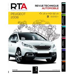 REVUE TECHNIQUE PEUGEOT 2008 depuis 2013 - RTA 809 Librairie Automobile SPE 9791028306038
