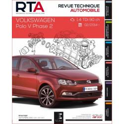REVUE TECHNIQUE VOLKSWAGEN POLO V PHASE 2 depuis 2014 - RTA 807 Librairie Automobile SPE 9791028306014