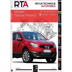 REVUE TECHNIQUE NISSAN QASHQAI I PHASE 2 de 2010 à 2014 - RTA 805 Librairie Automobile SPE 9791028306007