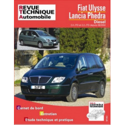 REVUE TECHNIQUE FIAT ULYSSE et LANCIA PHEDRA depuis Octobre 2002 - RTA 863 Librairie Automobile SPE 9782726886311
