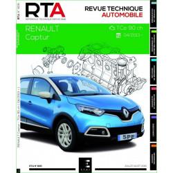 REVUE TECHNIQUE RENAULT CAPTUR depuis 2013 - RTA 806 Librairie Automobile SPE 9782726880753