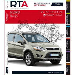 REVUE TECHNIQUE FORD KUGA de 2008 à 2012 - RTA B799 Librairie Automobile SPE 9782726879955