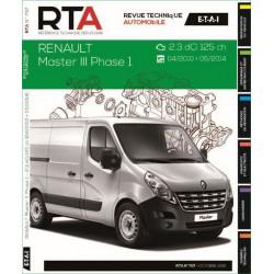 REVUE TECHNIQUE RENAULT MATSER III PHASE 1 de 2010 à 2014 - RTA B797 Librairie Automobile SPE 9782726879757