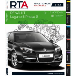 REVUE TECHNIQUE RENAULT LAGUNA III PHASE 2 depuis 2010 - RTA B796 Librairie Automobile SPE 9782726879658