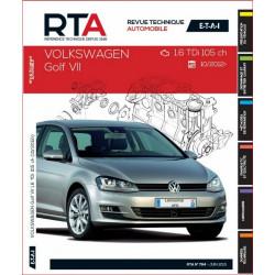 REVUE TECHNIQUE VOLKSWAGEN GOLF VII depuis 2012 - RTA B794 Librairie Automobile SPE 9782726879450
