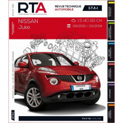 REVUE TECHNIQUE NISSAN JUKE de 2010 à 2014 - RTA B792 Librairie Automobile SPE 9782726879252