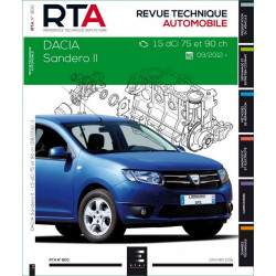 REVUE TECHNIQUE DACIA SANDERO II - RTA 800 Librairie Automobile SPE 9782726879153
