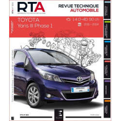 RTA 802 TOYOTA YARIS III Phase 1 - 1.4D-4D 90 ch