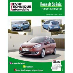REVUE TECHNIQUE RENAULT SCENIC III PHASE 2 de 2011 à 2013 - RTA B788 Librairie Automobile SPE 9782726878859