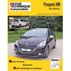 REVUE TECHNIQUE PEUGEOT 208 DIESEL depuis 2012 - RTA B787 Librairie Automobile SPE 9782726878750