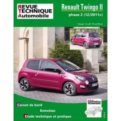 REVUE TECHNIQUE RENAULT TWINGO II PHASE 2 depuis 2011 - RTA B785 Librairie Automobile SPE 9782726878552