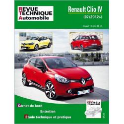 REVUE TECHNIQUE RENAULT CLIO IV depuis 2012- RTA B783 Librairie Automobile SPE 9782726878354