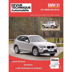 REVUE TECHNIQUE BMW X1 PHASE 1 de 2009 à 2012 - RTA B782 Librairie Automobile SPE 9782726878255
