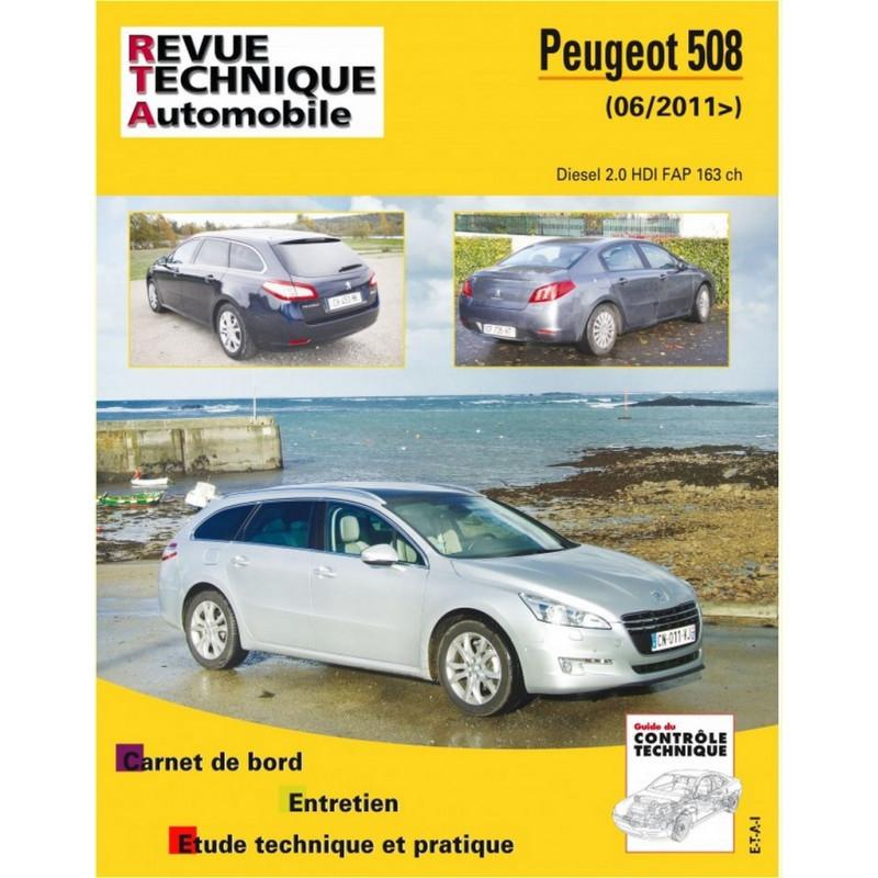 REVUE TECHNIQUE PEUGEOT 508 DIESEL depuis 2011 - RTA B780 Librairie Automobile SPE 9782726878057
