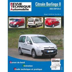 REVUE TECHNIQUE CITROEN BERLINGO II DIESEL depuis 2012 - RTA B778 Librairie Automobile SPE 9782726877852