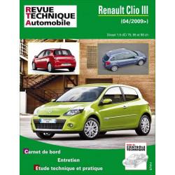 REVUE TECHNIQUE RENAULT CLIO III PHASE 2 DIESEL depuis 2009 - RTA B777 Librairie Automobile SPE 9782726877753